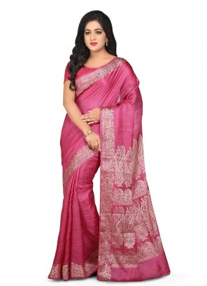 Pink Weaving Reception Designer Traditional Saree