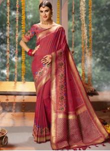 Pink Wedding Designer Traditional Saree