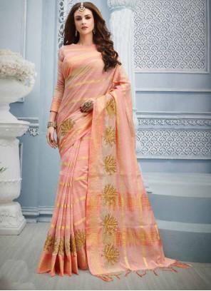 Pink Zari Designer Saree