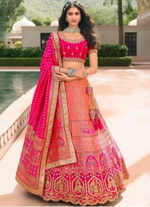 Pink Zari Trendy Lehenga Choli