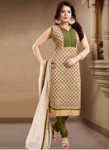 Plain Banglori Silk Churidar Salwar Suit
