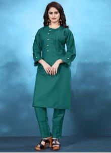Plain Cotton Designer Kurti