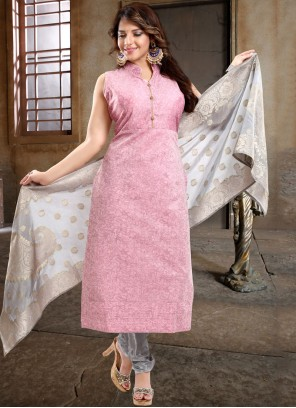 Plain Reception Churidar Designer Suit