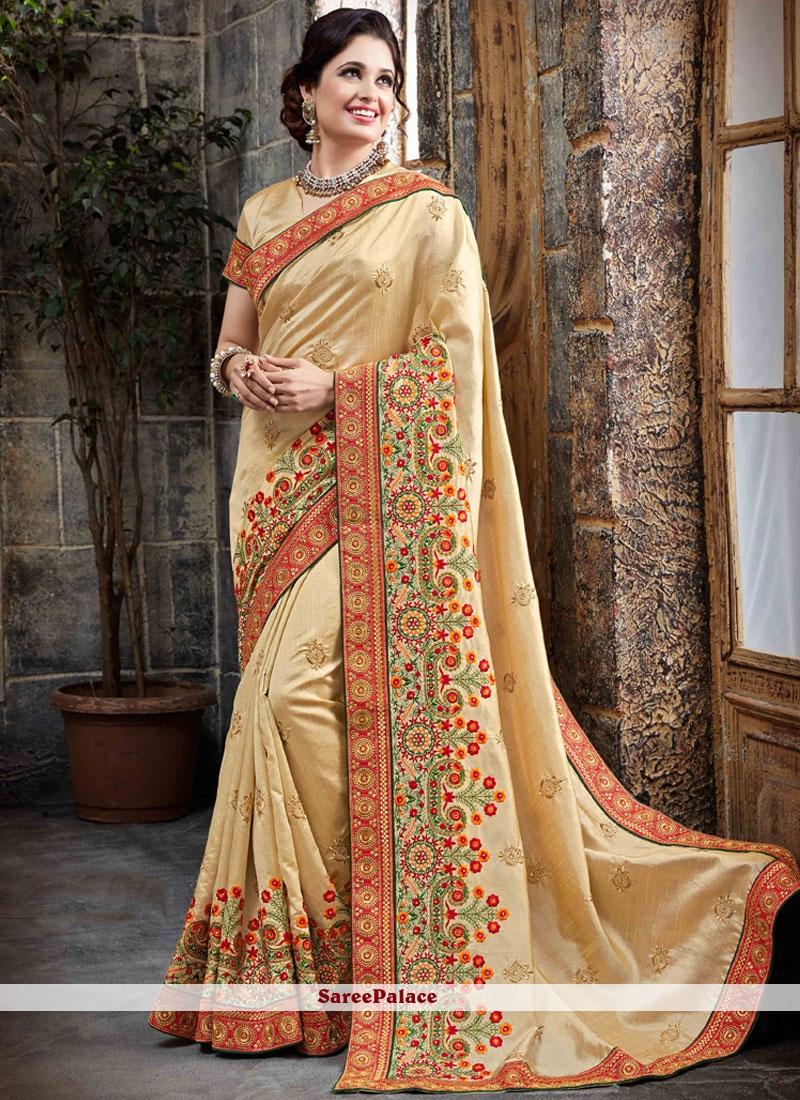 Pleasance Bhagalpuri Silk Patch Border Work Traditional Designer Saree