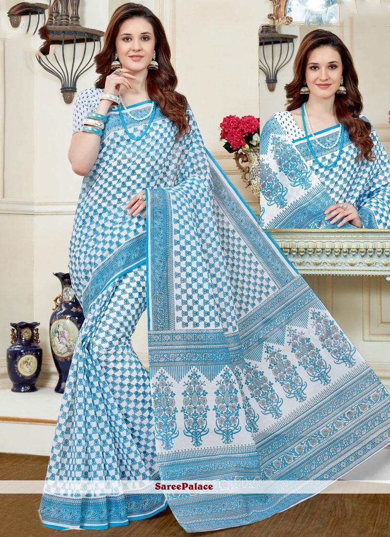 Pleasance Cotton   Print Work Casual Saree