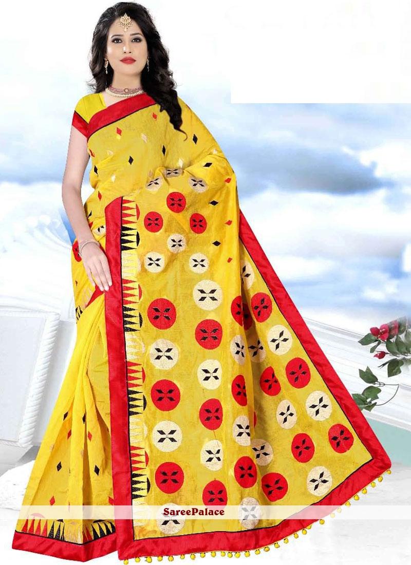 Poly Cotton Festival Printed Saree