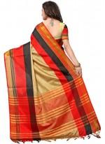 Poly Cotton Multi Colour Woven Casual Saree
