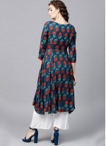 Poly Cotton Party Casual Kurti