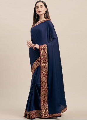 Poly Silk Lace Traditional Saree