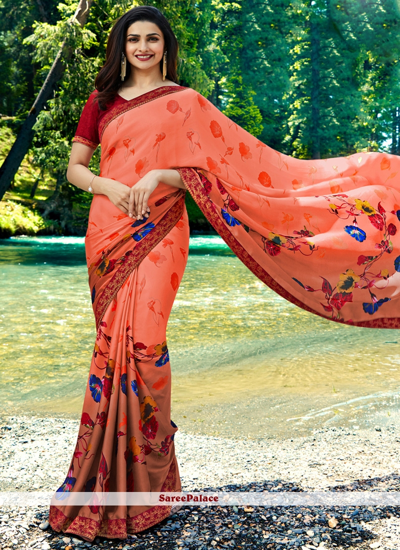 Prachi Desai Classical Multi Colour Printed Saree