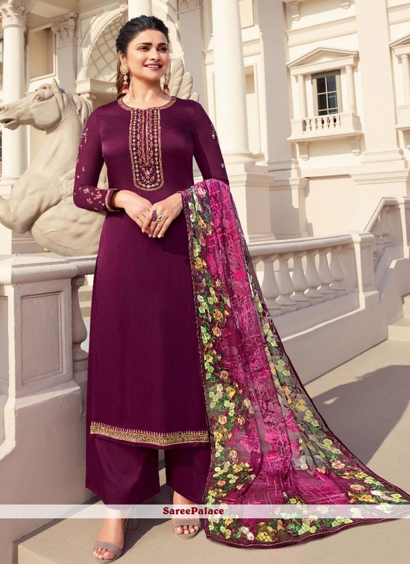 Magenta Prachi Desai Designer Palazzo Salwar Suit