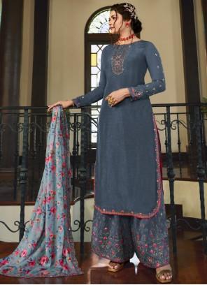 Prachi Desai Embroidered Designer Palazzo Salwar Kameez