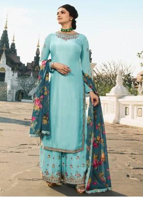 Prachi Desai Embroidered Designer Palazzo Salwar Suit