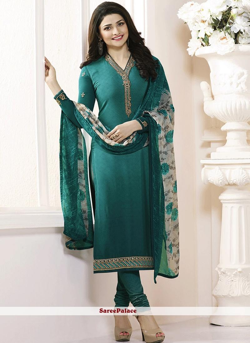 172a2b14c44 Buy Prachi Desai Faux Crepe Churidar Designer Suit Online