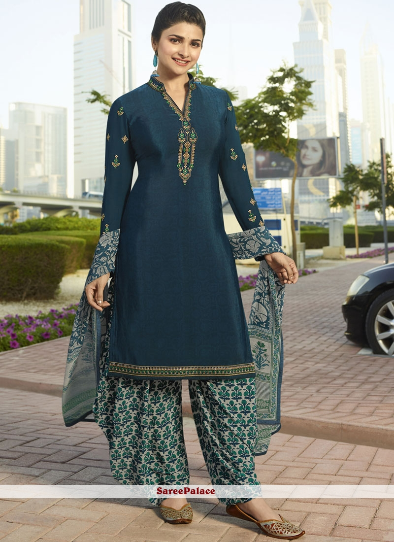 8fa1896ec15 Buy Prachi Desai Faux Crepe Party Designer Pakistani Suit Online