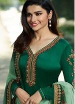 Prachi Desai Faux Georgette Churidar Designer Suit