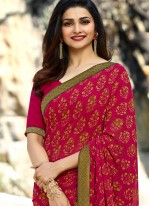 Prachi Desai Faux Georgette Multi Colour Printed Saree