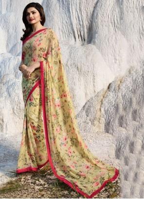 Prachi Desai Faux Georgette Printed Saree