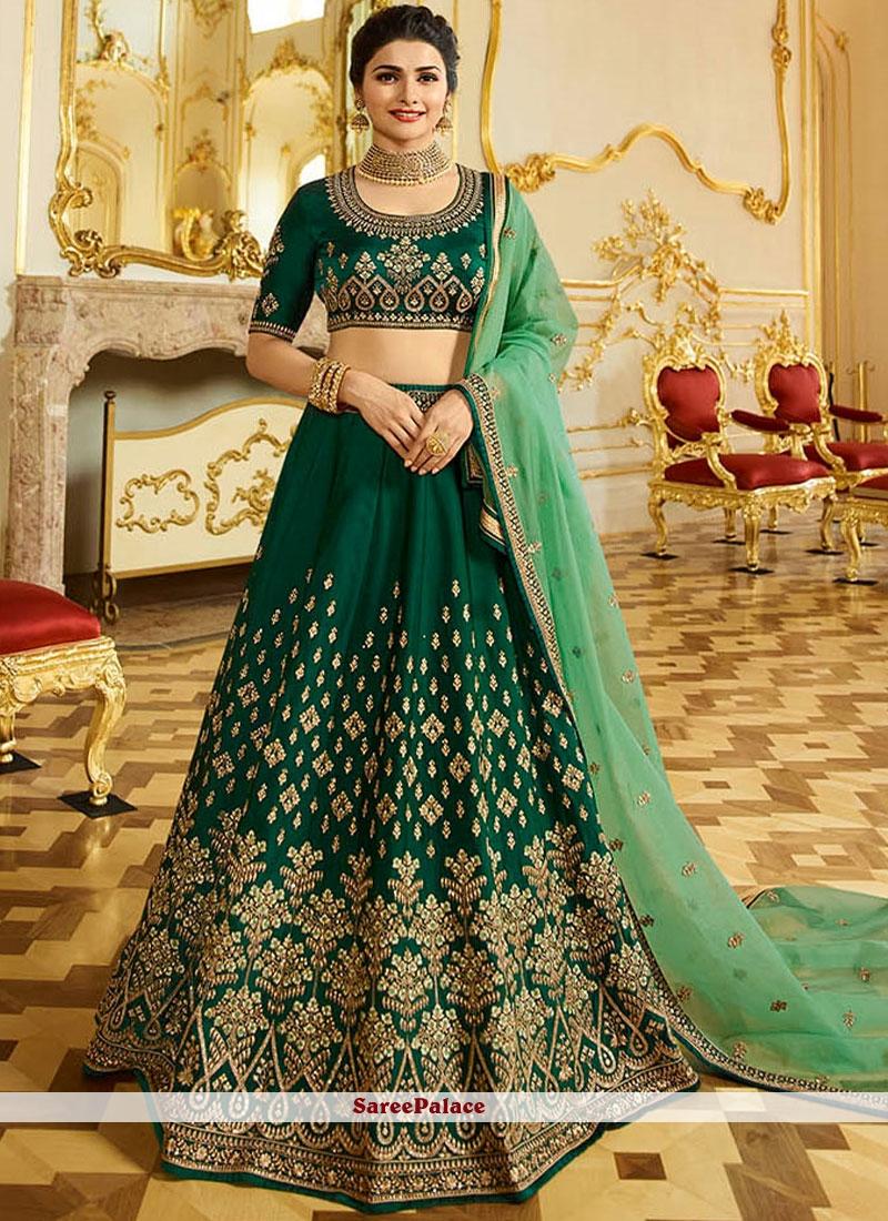 2abc1aa0f6 Buy Prachi Desai Green Art Silk Lehenga Choli Online