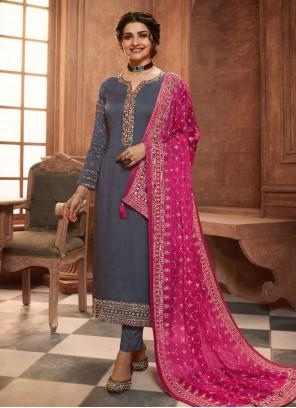 Prachi Desai Grey Pant Style Suit