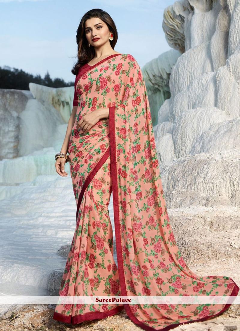 Multi Colour Prachi Desai Printed Saree