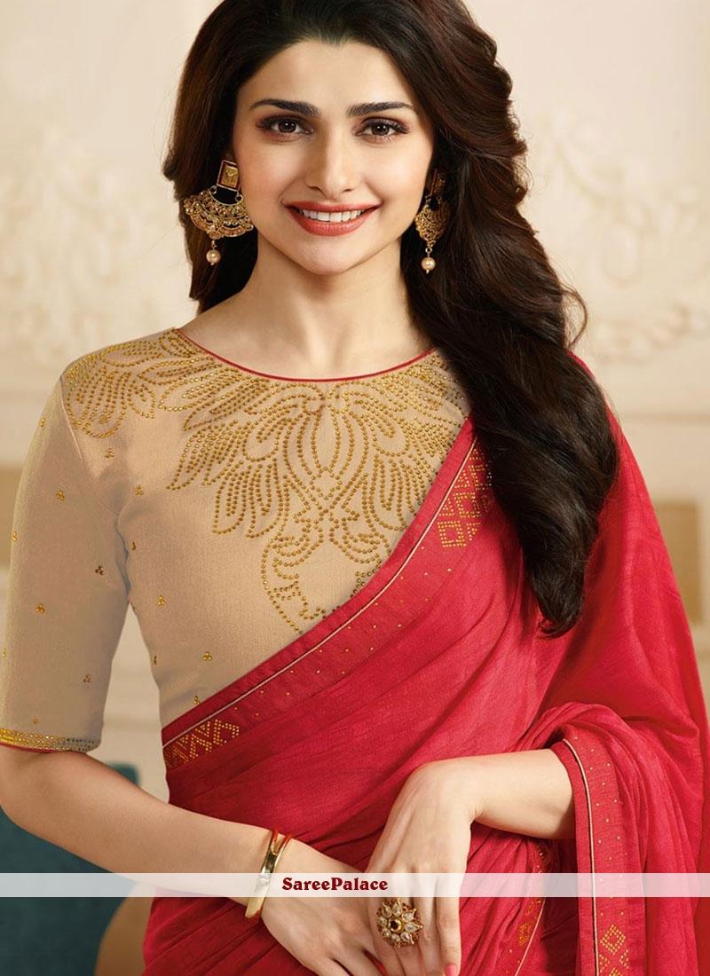 8cfab5f3514 Buy Prachi Desai Red Designer Saree Online