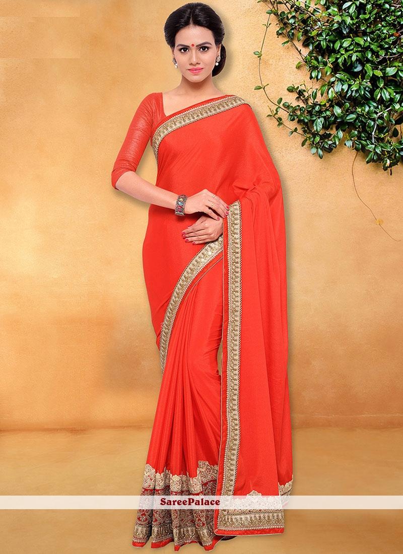 Praiseworthy Red Classic Designer Saree