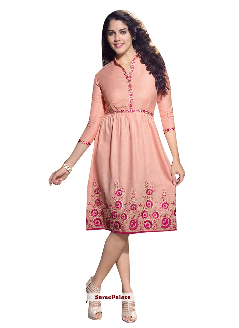 Precious Embroidered Work Party Wear Kurti