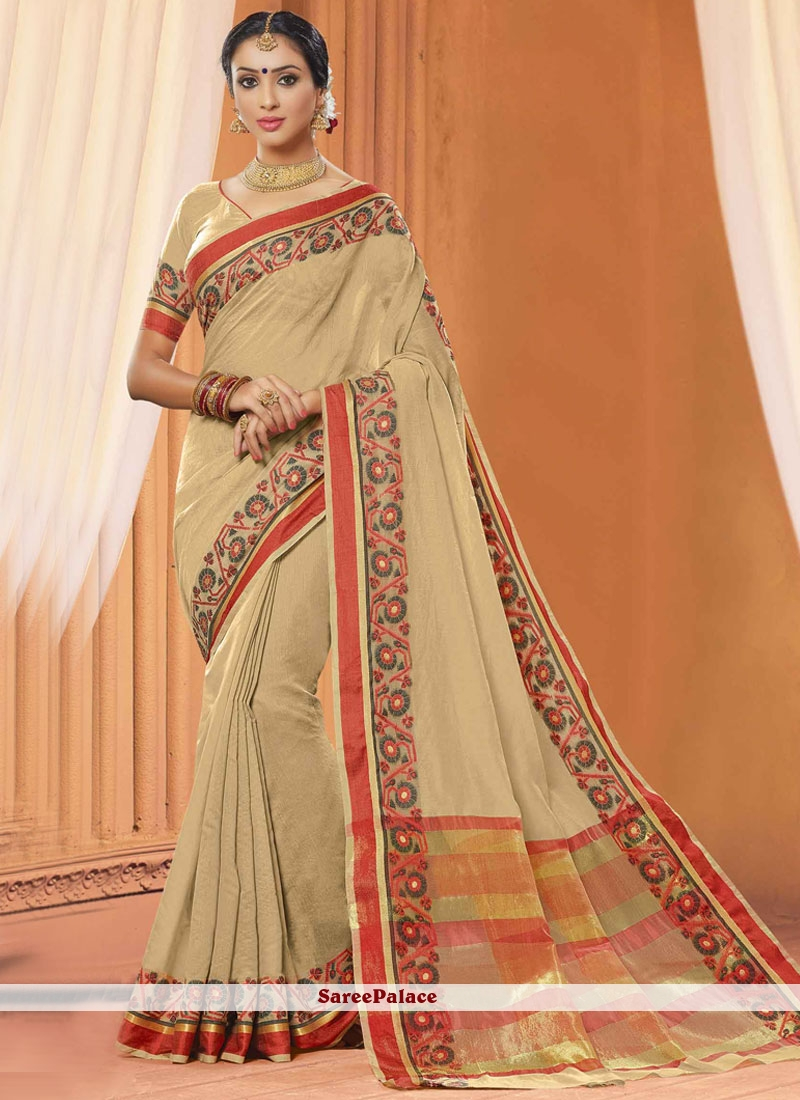 Prime Embroidered Work Designer Saree