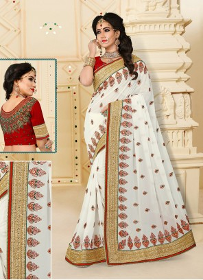 Princely Georgette Designer Traditional Sarees