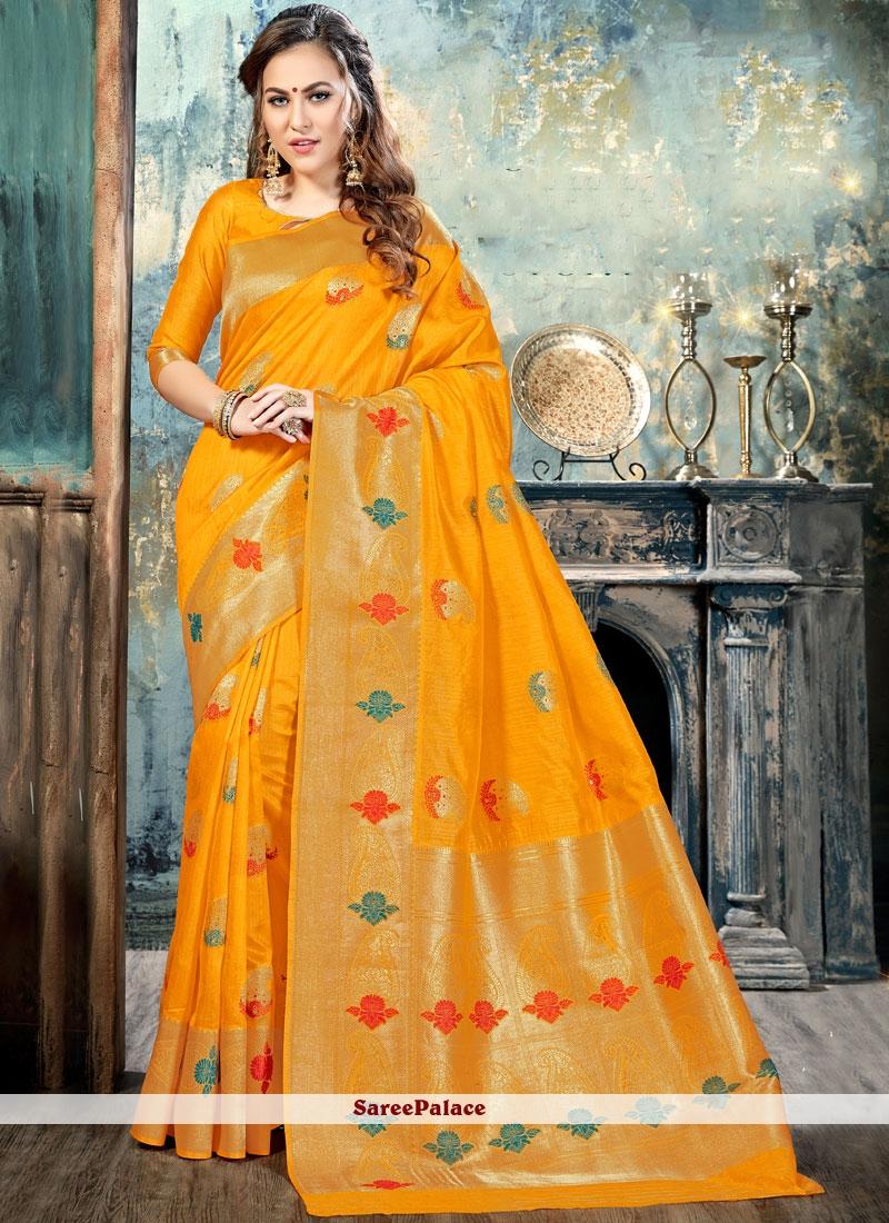 Princely Silk Abstract Print Work Traditional  Saree