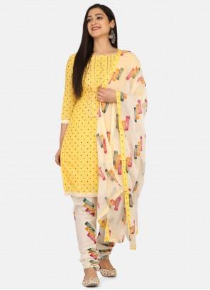 Print Blended Cotton Churidar Salwar Suit