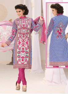 Multi Colour Print Casual Churidar Suit