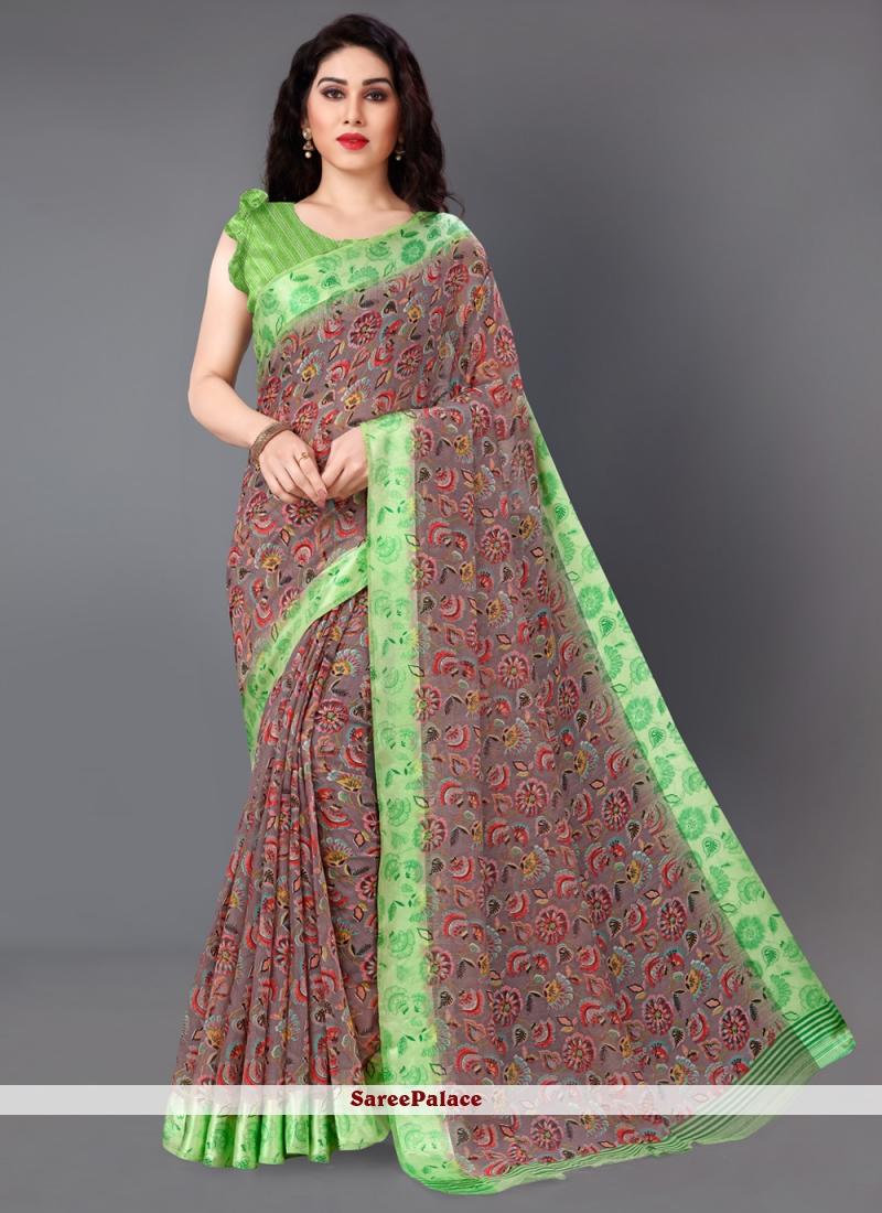 Print Multi Colour Casual Classic Saree