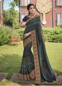 Print Chanderi Multi Colour Trendy Saree