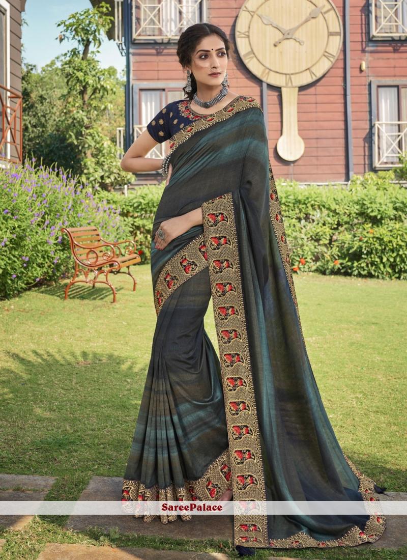 Print Chanderi Multi Colour Trendy Saree
