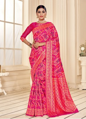 Print Fancy Fabric Classic Designer Saree in Pink