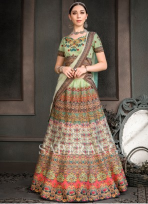 Print Fancy Fabric Lehenga Choli