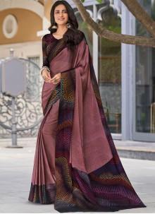 Print Faux Georgette Multi Colour Classic Designer Saree