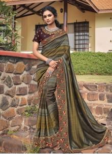 Multi Colour Print Festival Classic Designer Saree