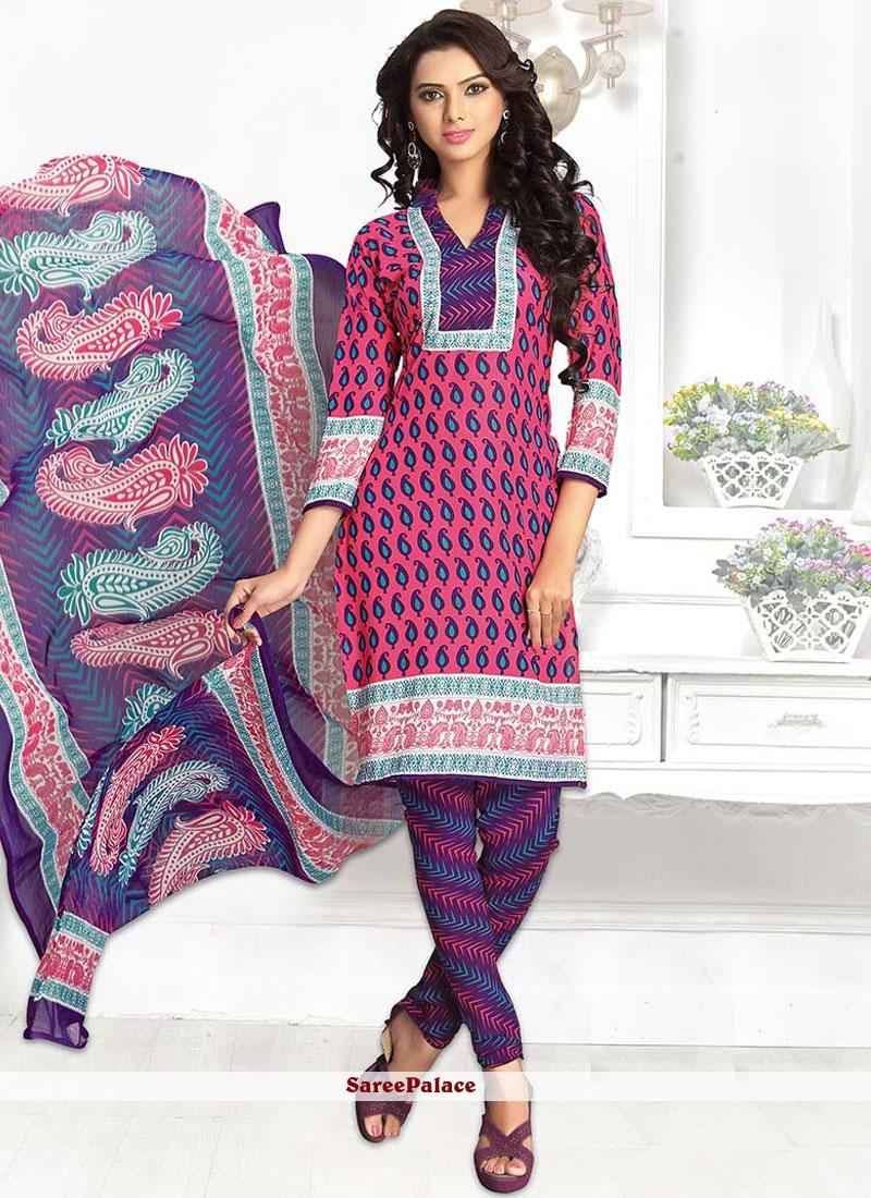 Print Leon Churidar Suit in Multi Colour