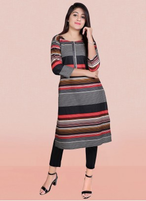 Print Multi Colour Designer Kurti