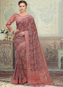 Print Multi Colour Silk Designer Saree
