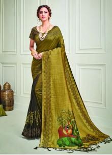 Print Silk Classic Designer Saree