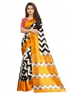 Print Silk Multi Colour Traditional Saree
