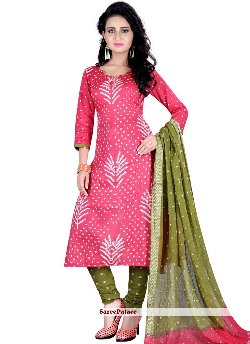 Print Work Churidar Suit