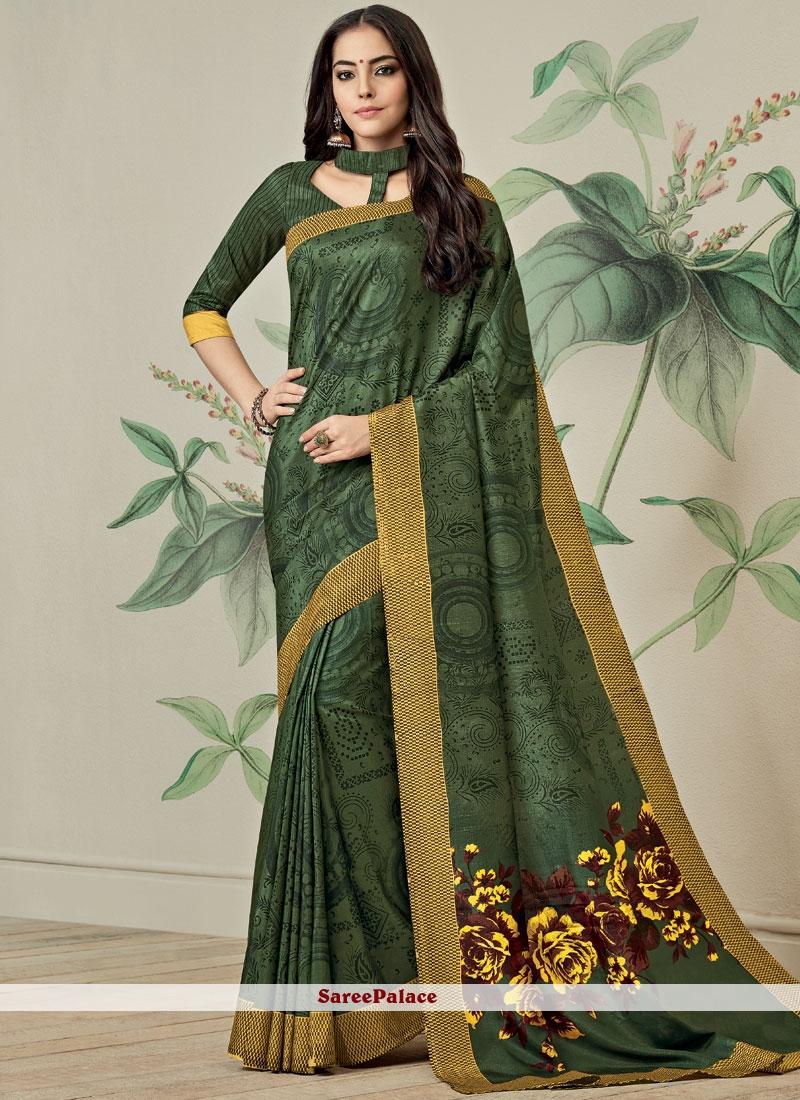 Print Work Fancy Fabric Printed Saree