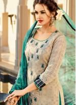 Print Work Multi Colour Cotton   Churidar Designer Suit