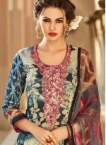 Print Work Multi Colour Designer Palazzo Suit