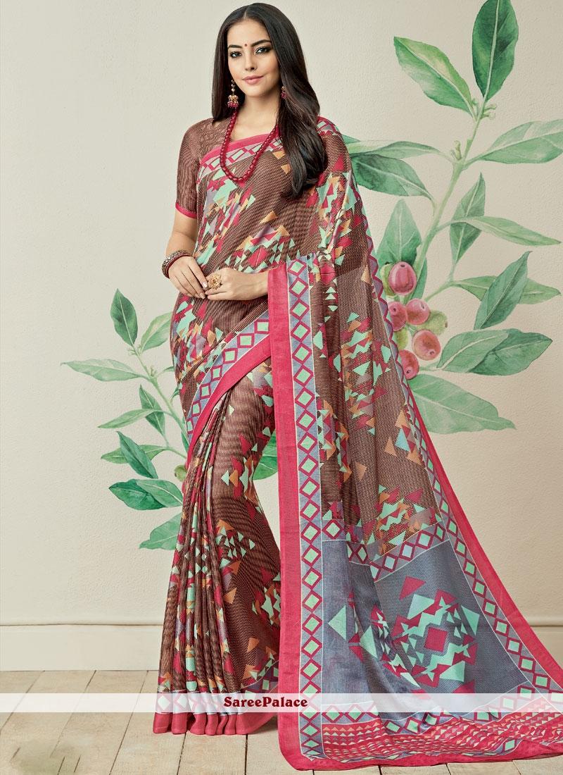 Print Work Multi Colour Printed Saree